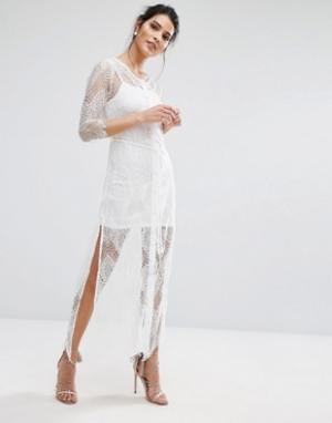 Goldie Кружевное платье-комбинация Karley. Цвет: белый