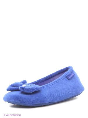 Тапочки Isotoner. Цвет: синий