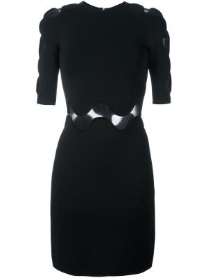 Платье с прозрачными вставками David Koma. Цвет: чёрный