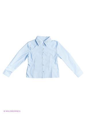 Рубашка КАЛIНКА. Цвет: голубой