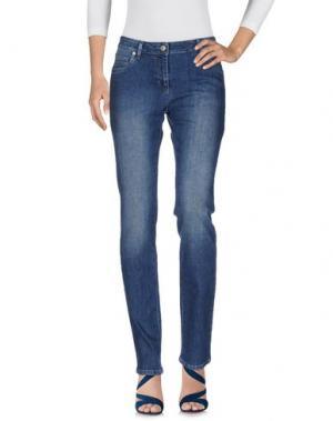 Джинсовые брюки CONTE OF FLORENCE. Цвет: синий