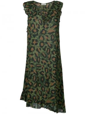 Платье Rebelle Leo Zadig & Voltaire. Цвет: зелёный