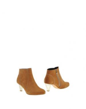 Полусапоги и высокие ботинки GASPARD YURKIEVICH. Цвет: желто-коричневый
