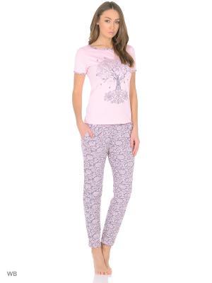 Комплект домашней одежды (кофта, брюки) HomeLike. Цвет: бледно-розовый