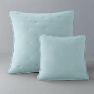 Наволочка на подушку-валик или подушку, AERI La Redoute Interieurs. Цвет: бледный сине-зеленый,розовая пудра/серо-бежевый,светло-серо-коричневый/серо-бежевый,экрю/серо-бежевый