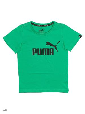 Футболка ESS No.1 Tee Puma. Цвет: зеленый