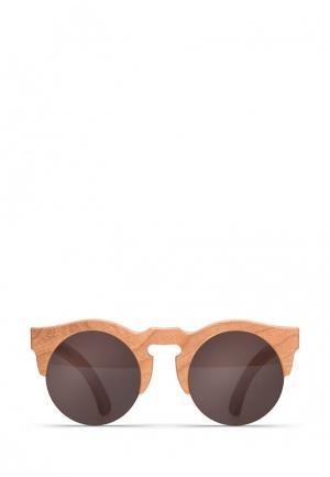 Солнцезащитные очки Woodsun. Цвет: бежевый