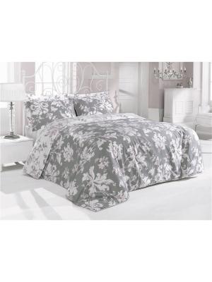 Комплект постельного белья ROSY  сатин, 200ТС, 100% хлопок, 1,5х ISSIMO Home. Цвет: светло-серый