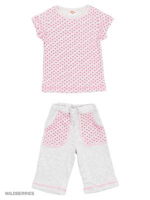 Пижама erteks. Цвет: серый, розовый