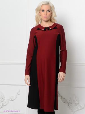 Платье Livaa. Цвет: бордовый, черный