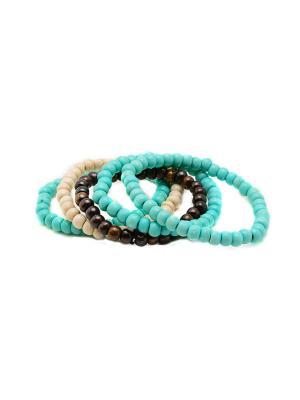 Набор браслетов из кости Bangalore Indira. Цвет: прозрачный