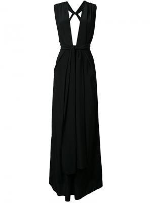 Вечернее платье Ascendent Bianca Spender. Цвет: чёрный
