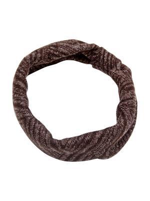Повязка Kameo-bis. Цвет: коричневый, серебристый, черный