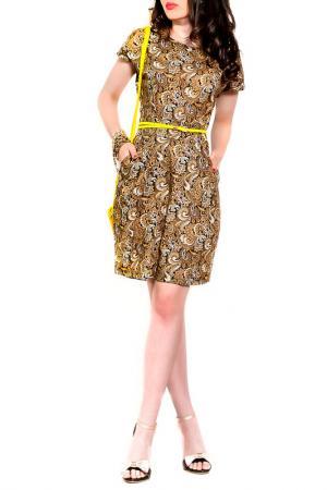 Платье MONT PELLIER. Цвет: коричневый