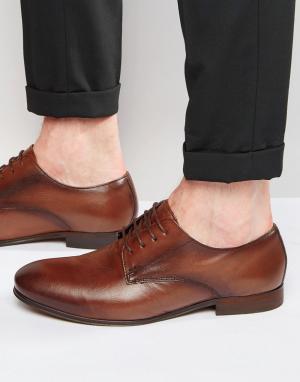 Hudson London Кожаные туфли дерби Champlain. Цвет: коричневый