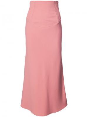 Расклешенная юбка миди Tome. Цвет: розовый и фиолетовый