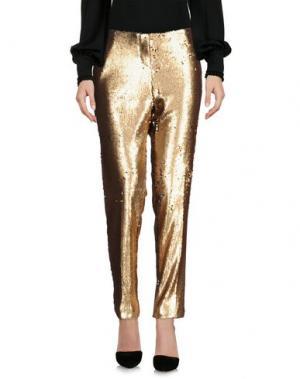 Повседневные брюки NINEMINUTES. Цвет: золотистый