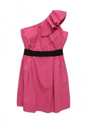 Платье Sisley. Цвет: фуксия