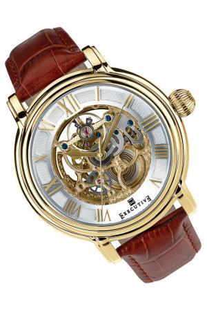 Часы Executive. Цвет: коричневый