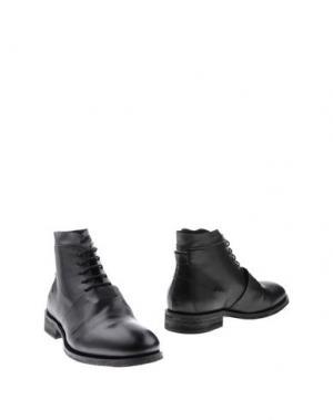 Полусапоги и высокие ботинки MOS. Цвет: черный