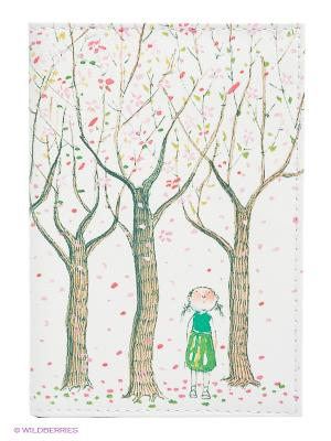 Обложка для автодокументов Цветущие яблони Mitya Veselkov. Цвет: белый, бледно-розовый