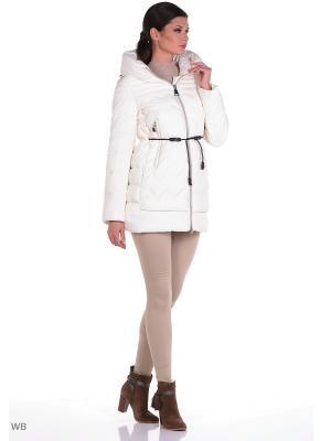 Куртка Clasna. Цвет: молочный