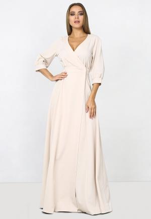 Платье Zerkala. Цвет: бежевый