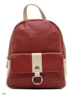 Рюкзак Jacky&Celine. Цвет: красный, бежевый
