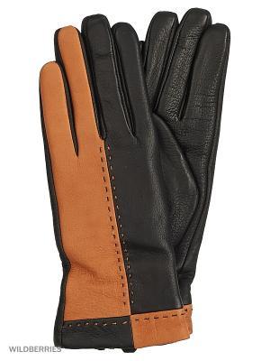 Перчатки женские Marco Bonne`. Цвет: черный, рыжий