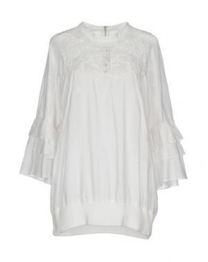 Блузка ZUCCA. Цвет: белый