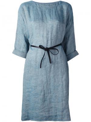 Belted dress Forte. Цвет: синий
