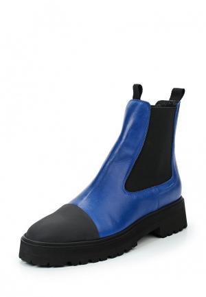 Ботинки MM6 Maison Margiela. Цвет: синий