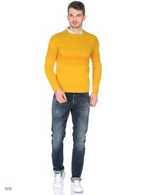 Свитер Sisley. Цвет: желтый