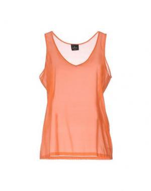 Топ без рукавов GOTHA. Цвет: оранжевый