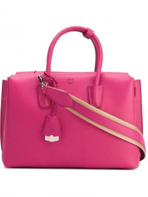 Маленькая сумка-тоут MCM. Цвет: розовый и фиолетовый