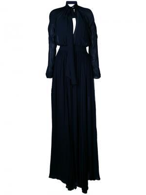 Платье Monne Peasant La Mania. Цвет: синий