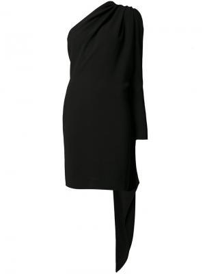 Платье с декором в виде шарфа Gareth Pugh. Цвет: чёрный