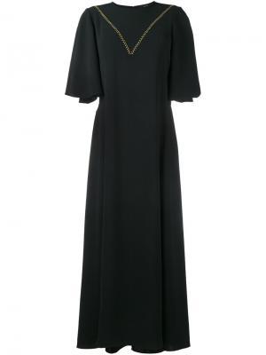 Платье с контрастными стежками Ellery. Цвет: чёрный