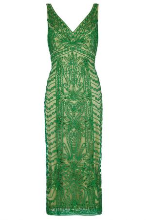 Dress DYNASTY COCKTAIL. Цвет: green