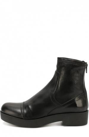 Кожаные ботинки на массивной подошве Baldan. Цвет: черный