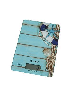 Весы кухонные 1473-MW(B),  5 кг,Измерение объема жидкости. MAXWELL. Цвет: бирюзовый