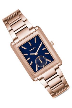 Наручные часы DKNY. Цвет: розовое золото, синий