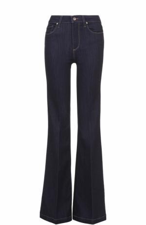Расклешенные джинсы со стрелками Paige. Цвет: темно-синий