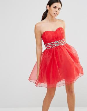 Laced In Love Платье для выпускного. Цвет: красный