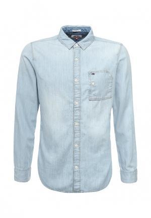 Рубашка джинсовая Tommy Hilfiger Denim. Цвет: голубой