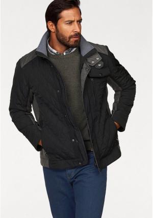 Стеганая куртка MANS WORLD MAN'S. Цвет: черный/серый