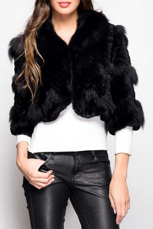 Меховая куртка Giorgio. Цвет: black
