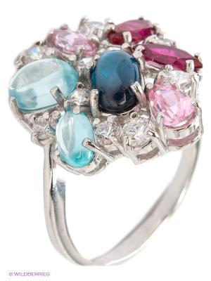 Кольцо Lovely Jewelry. Цвет: голубой, серебристый, розовый