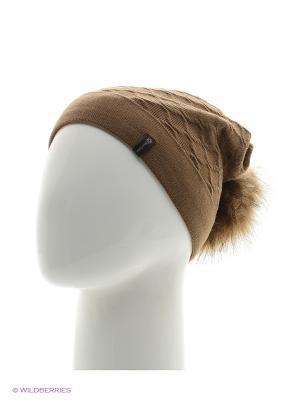 Биатрис Беркле шапка женская с помпоном Berkle. Цвет: темно-коричневый