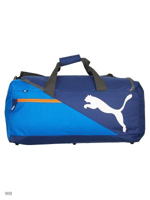 Сумка Fundamentals Sports Bag M PUMA. Цвет: голубой, синий